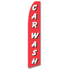 Car Wash - Red and White - Feather Flag