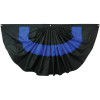 Thin Blue Line 3' x 6' Nylon Pleated Fan