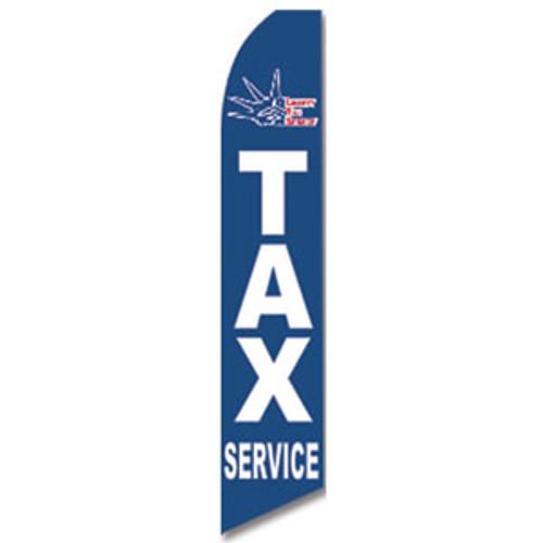 Liberty Tax (Navy) Feather Flag