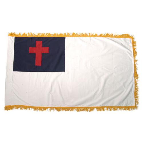 Christian Sewn Fringed Flag