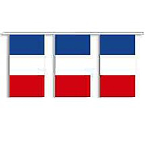 France string pennant, French flag, pennant, banner