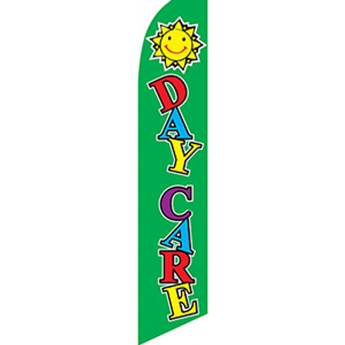 Day Care (green) Feather Flag