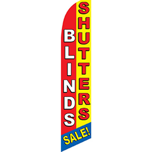 Shutters & Blinds Feather Flag