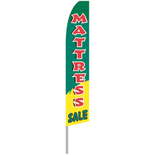 Mattress Sale - Green and Yellow - Feather Flag