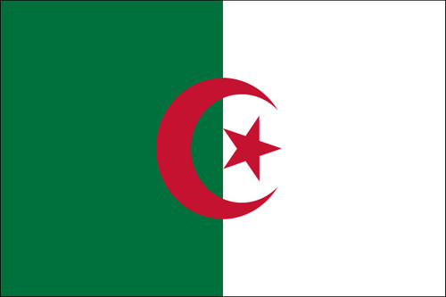 "Algeria - 4"" x 6"" Minature Stick Flags"