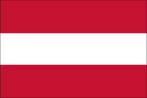 "Austria - 4"" x 6"" Minature Stick Flags"
