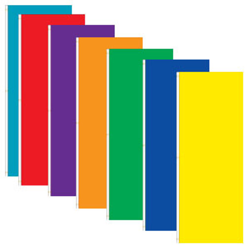 Attention Solid Color Vertical Tall Flag