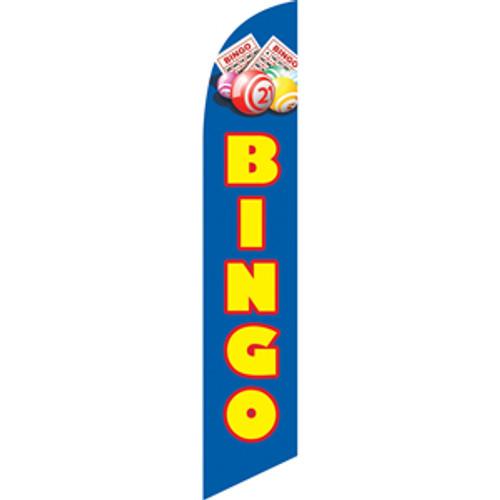 Bingo (blue background) Semi Custom Feather Flag Kit