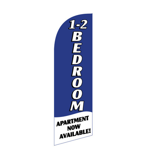 1-2 BR Apartment 6ft Feather Flag blue