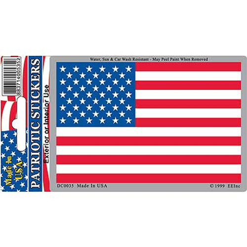 """US Flag decal (2.75"""" x 4"""")"""