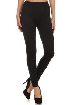 Front image of Wholesale Women's Premium Fleece Lined Leggings