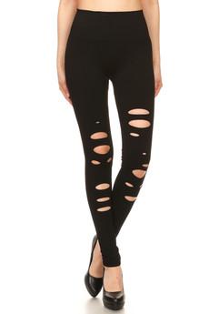 Wholesale Premium Front Slashed Seamless Leggings