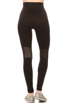Wholesale High Waisted Blacky Mesh Workout Leggings