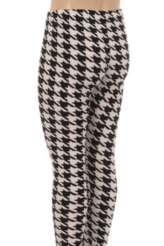 Wholesale Buttery Soft Houndstooth Kids Leggings