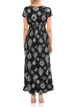 Wholesale Buttery Soft Short Sleeve Regalia Tribal Maxi Dress