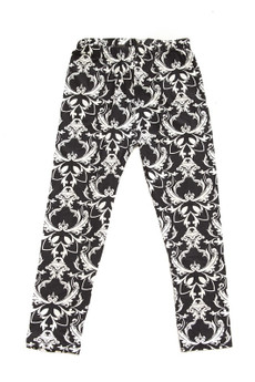 Wholesale Buttery Soft Baroque Wreath Kids Leggings