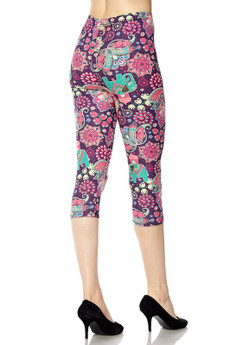 Wholesale Buttery Soft Groovy Candyland Motif Capri