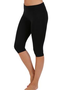 Wholesale Contrast Basic Women's Workout Capri