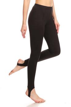 Profile image of Wholesale Premium Brushed Black Sport Stirrup Leggings