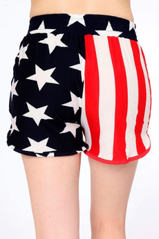 Wholesale Buttery Soft Split USA Flag Shorts