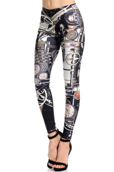 Wholesale Premium Graphic Print Moxie Steampunk Leggings