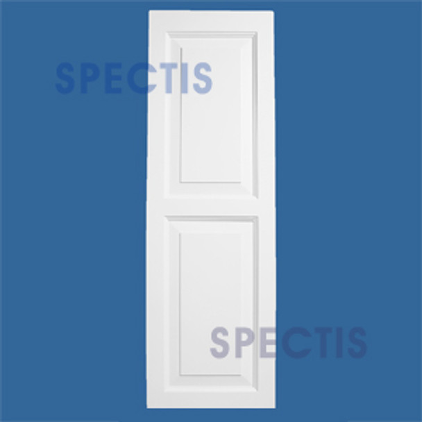 "SHP-2 1663 2 Raised Panel Exterior Shutters 16"" x 63"""