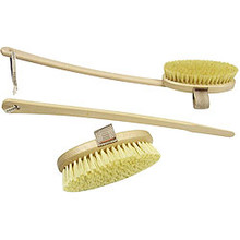 Dry Body Brush with Detachable Handle