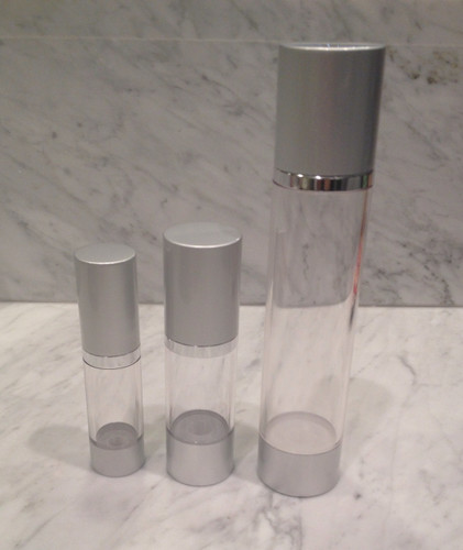 .5 oz, 1oz, & 4oz empty airless bottles