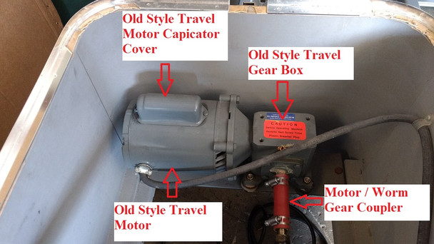 Spinalator Replacement Travel Motor - Older Style Tables