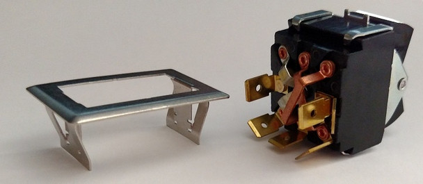 Spinalator IST Table Control Panel Roller Elevation Switch - 6 Prong