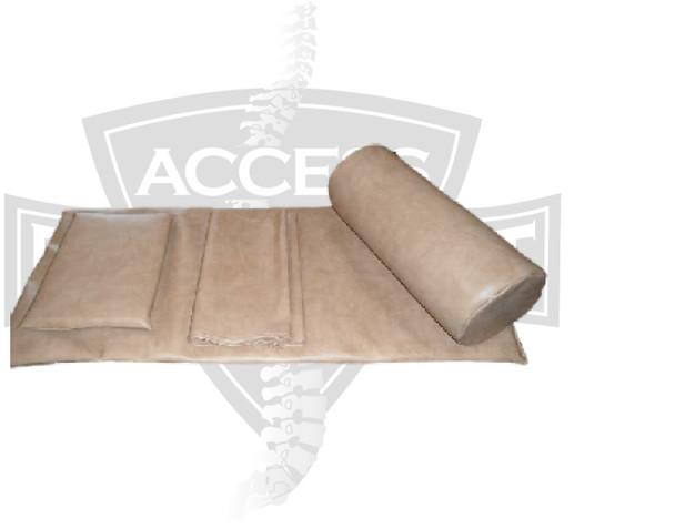 Spinalator Table Head Pillow, Leg Bolster, Sail Cloth & Top Pad Kit   4 Pieces