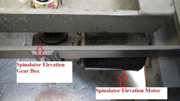 SPINALATOR IST TABLE ELEVATION MOTOR, BRAKE, PUCK, & CAPACITOR