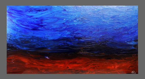 """Wandering Expression"" ● Acrylic Painting ● 59""x29.5""x1.5"""