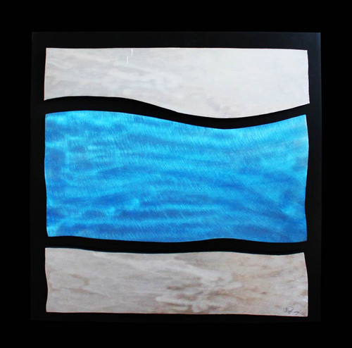 """Blue Wave"" ● Metal Art ● (SOLD)"