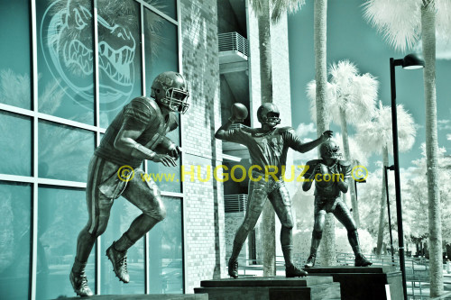 """Heisman Trio"" ● Infrared Photography"