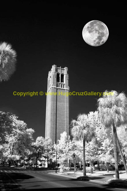 """""""Moon Over Century Tower"""" ● Infrared Photography"""
