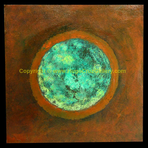"""Aqua Orb"" ● Acrylic Painting ● (SOLD)"