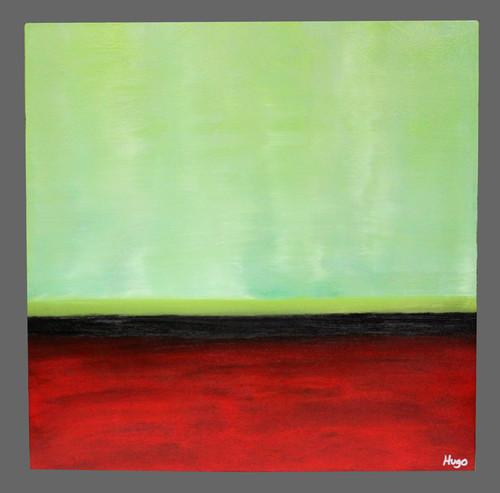 """Key Lime Horizon"" ● Acrylic Painting ● 22""x22""x2"""