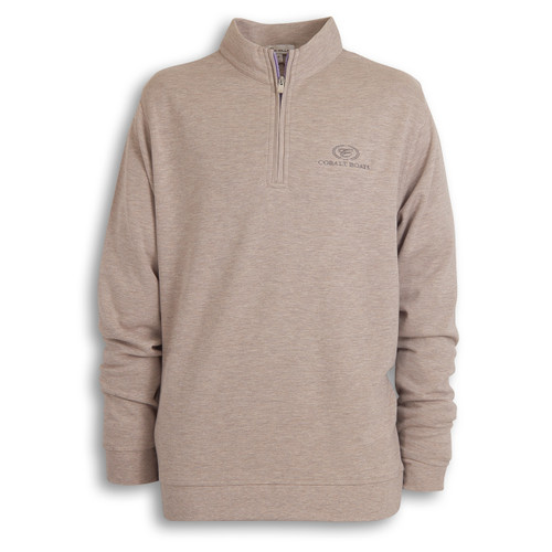 A372 Heather Quarter Zip Sweater