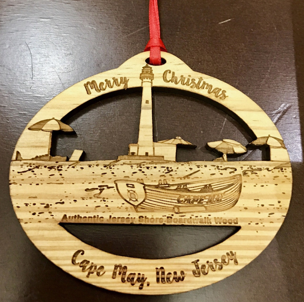 Cape May Merry Christmas Oval Ornament