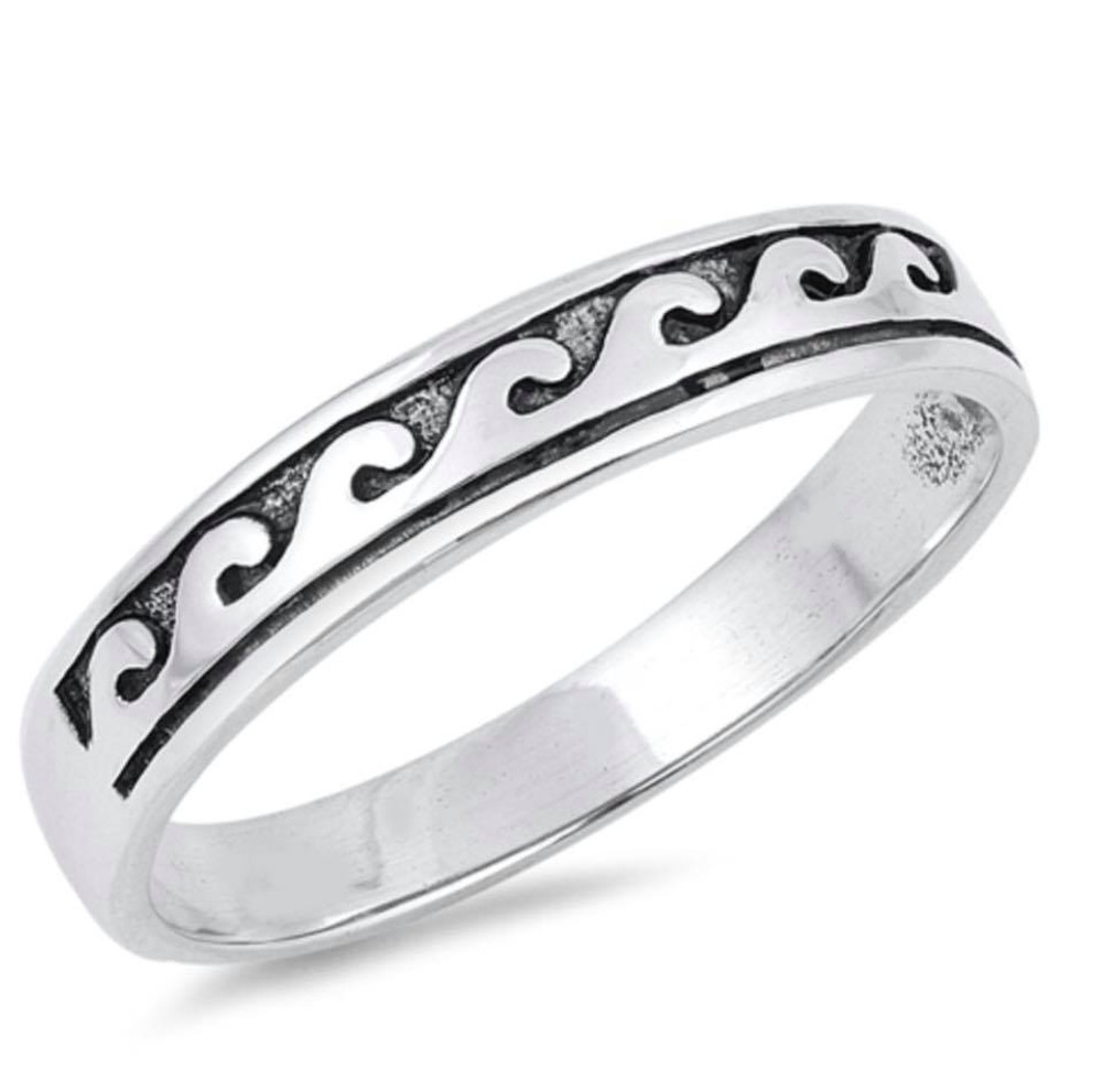Sterling Silver - Wave Ring