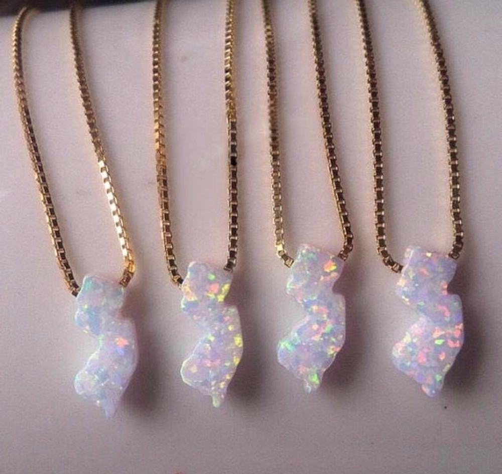 NJ State Opal Necklaces