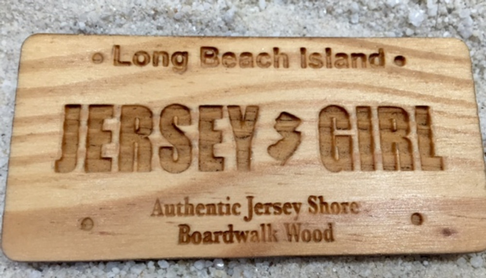 LBI Jersey Girl License Plate Magnet Rectangle