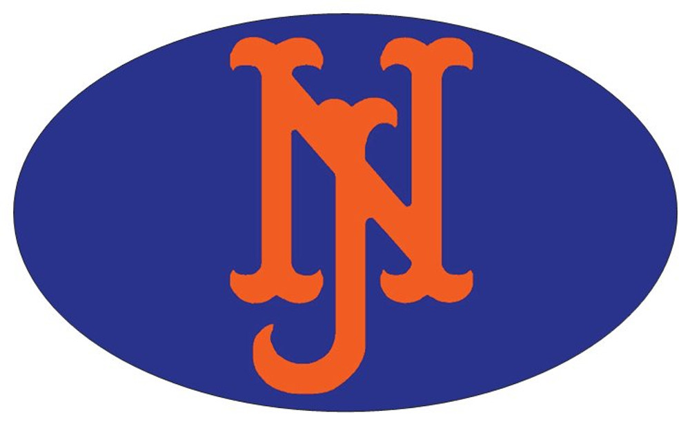 NJ Mets Oval Sticker Or Magnet