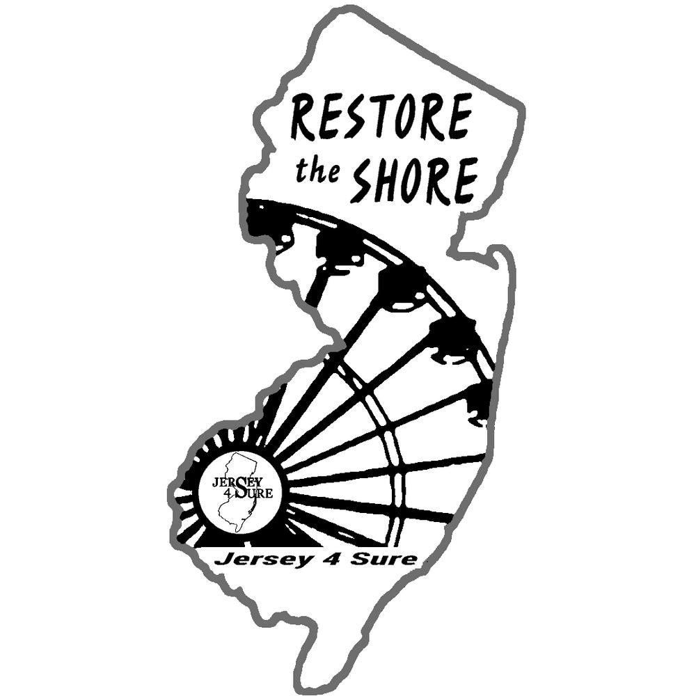 Restore The Shore Ferris Wheel Car Sticker