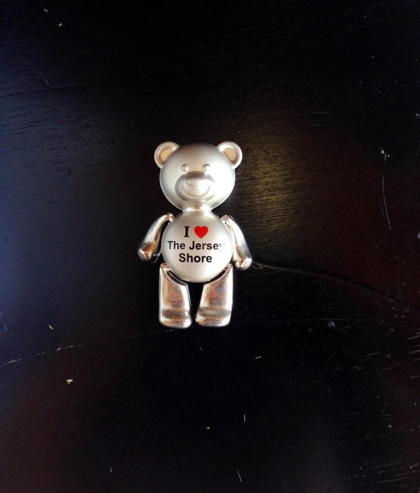 "I Love Jersey Shore Teddy Bear 2"" Magnet"