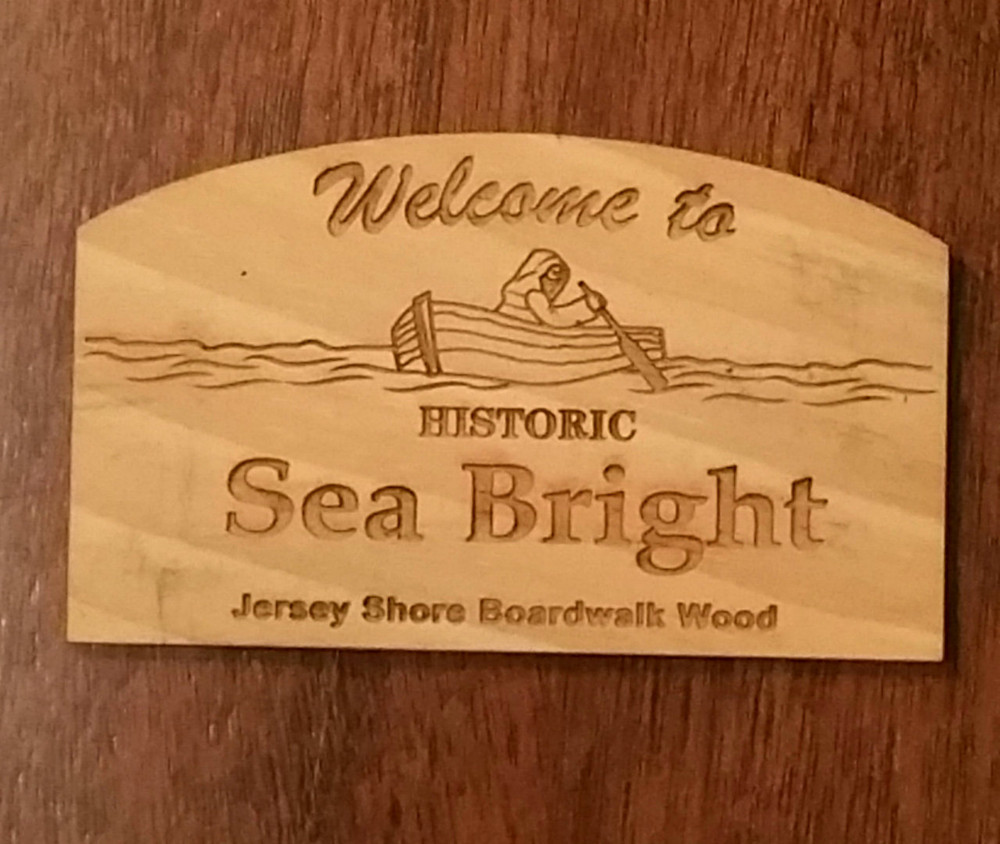 Welcome To Sea Bright Authentic Jersey Shore Boardwalk Wood Magnet