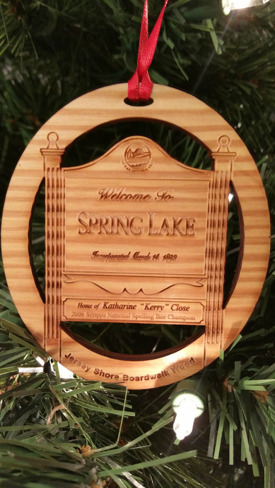 Welcome To Spring Lake Ornament