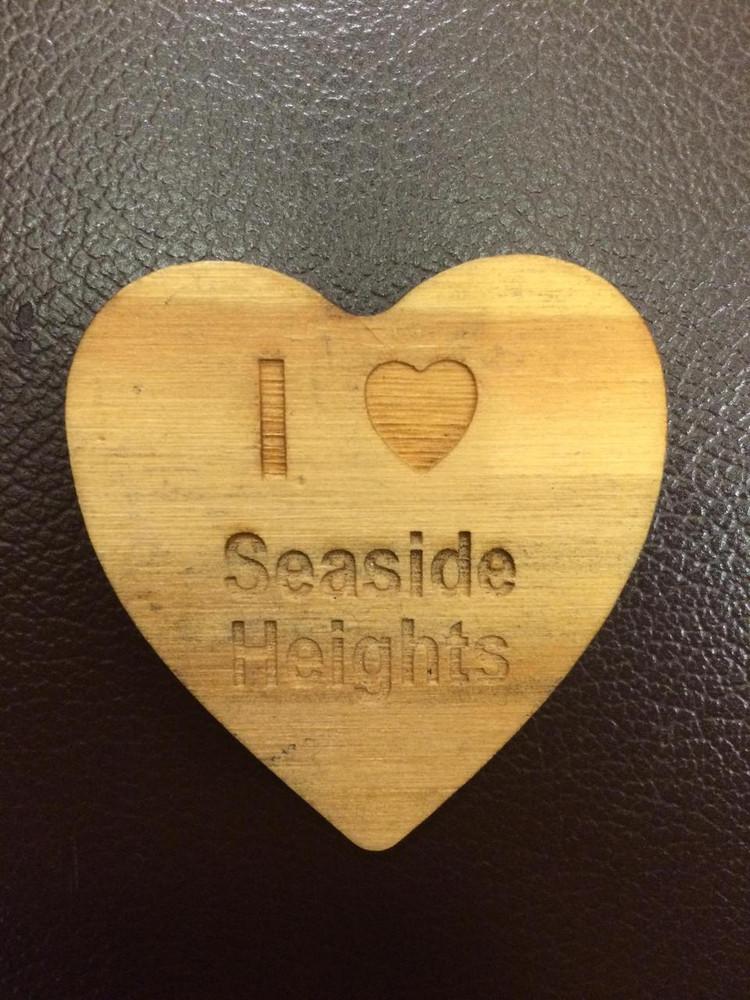 I Heart Seaside Heights Heart Shaped Magnet