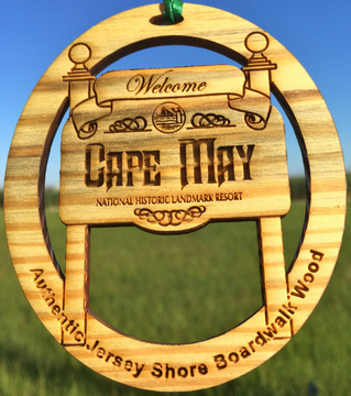 Welcome To Cape May Sign Ornament